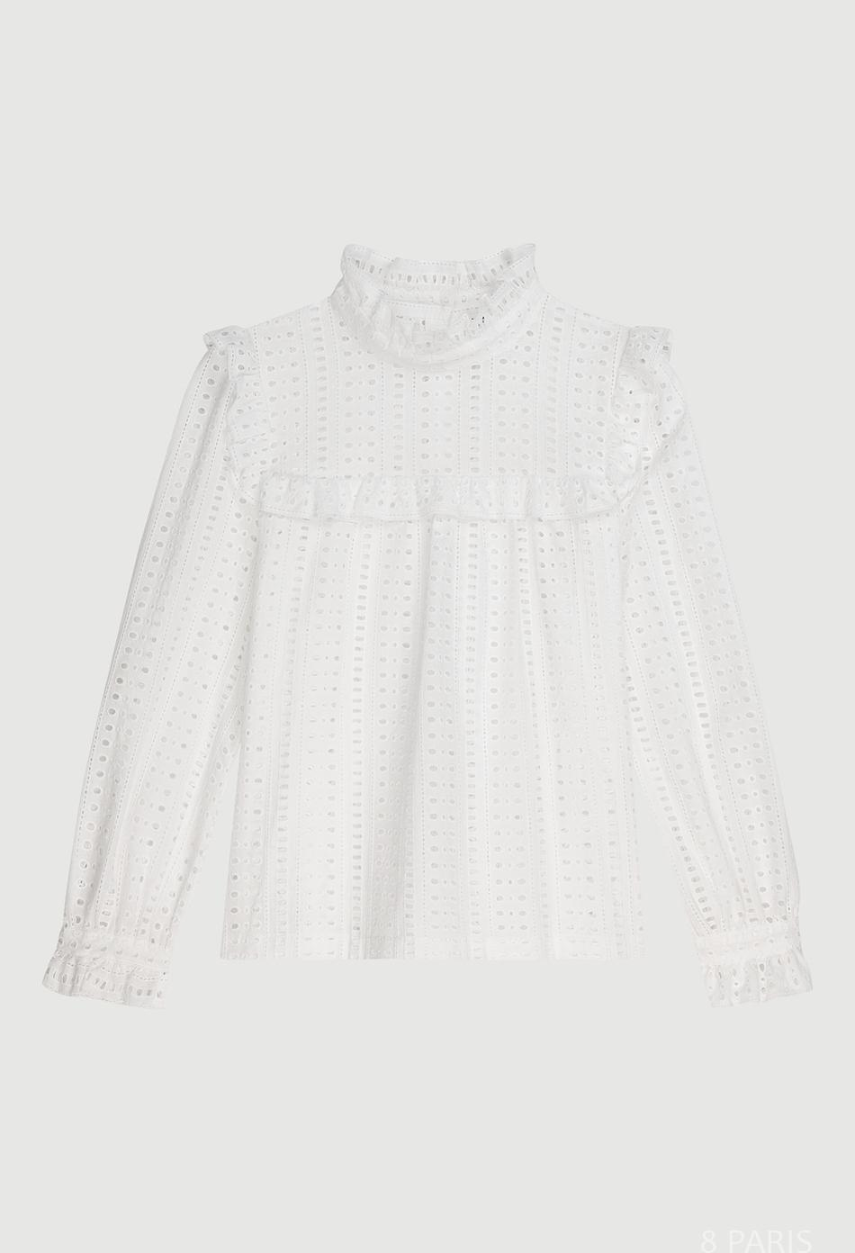 Blouse à broderies anglaises